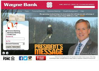 Wayne+Bank Website