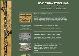 S+%26+V+Excavation+Inc Website