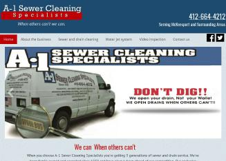 A-1+Sewer+Cleaning+Specialists Website