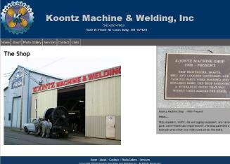 Koontz+Machine+%26+Welding+INC Website