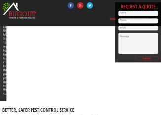 BugOut+Termite+%26+Pest+Control+Inc. Website