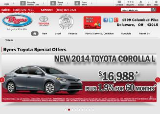 Byers+Toyota Website