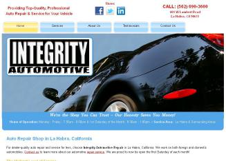 Integrity++Automotive Website
