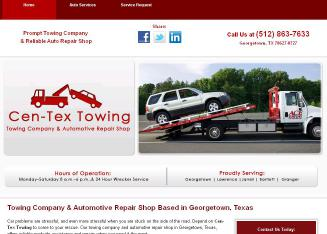 Cen-Tex+Towing+Inc Website
