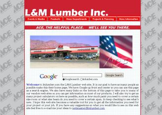L+%26+M+Lumber+Inc Website