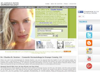 Charles+R.+Sexton%2C+M.D.%2C+Orange+County+Dermatology Website