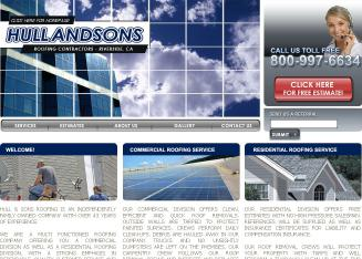 Hull+%26+Sons+Roofing Website