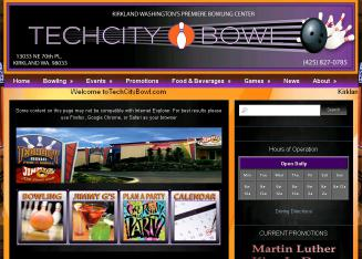 TechCity+Bowl+%26+Fun+Center Website