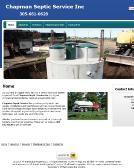 Chapman+Septic+Service+Inc Website