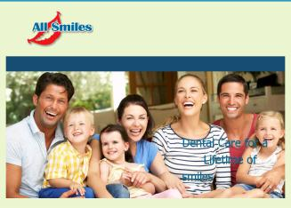 All+Smiles+Dental+Care Website