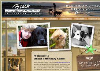 Beach+Veterinary+Clinic Website
