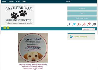 Sayrebrook+Veterinary+Hospital+PA Website