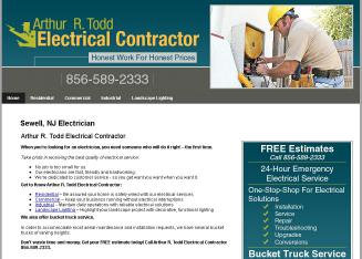 Arthur+R+Todd+Electrical+Contractor Website