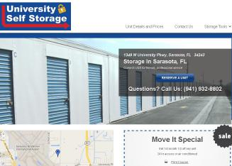 University+Self+Storage Website