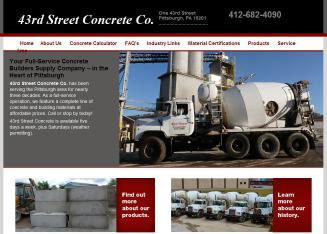43rd+Street+Concrete+Co Website