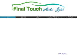 Final+Touch+Auto+Spa Website