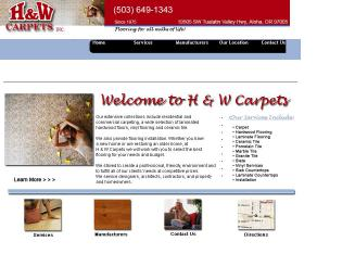 H+%26+W+Carpets Website