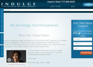 Indulge+Salon Website