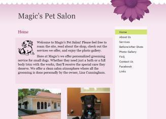 Magic%27s+Pet+Salon Website