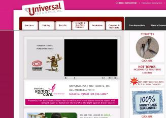 Universal+Pest+%26+Termite Website