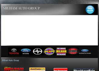 Milham+Ford+Toyota+Scion Website