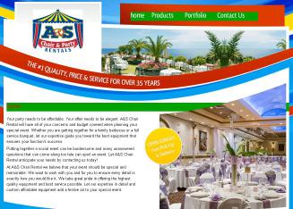 A+%26+S+Chair+Rental Website