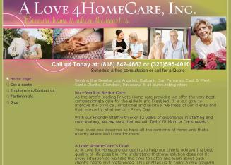 A+Love+For+Home+Care Website