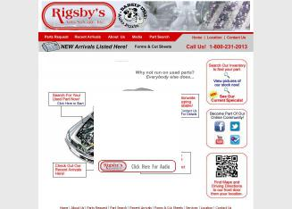 Rigsby%27s+Barely+Used+Auto+Parts Website
