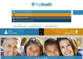 Eye+Health+Northwest Website