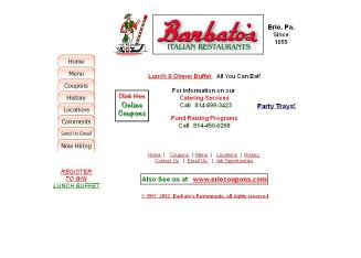 Barbato%27s+Italian+Restaurants+%26+Pizzeria Website