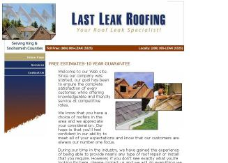 Last+Leak+Roofing Website