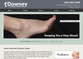 Downey+Podiatry+Center+Inc Website
