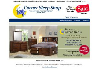 Corner+Sleep+Shop Website