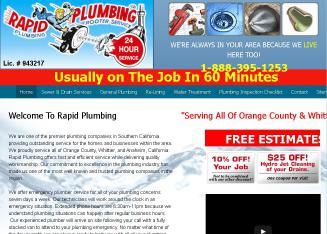 Rapid+Plumbing Website
