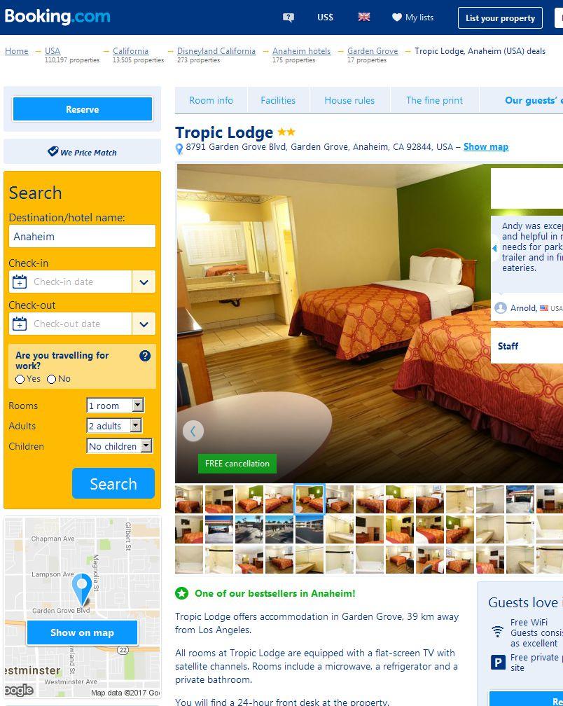Tropic Motel In Garden Grove Ca 8791 Garden Grove Blvd Garden Grove Ca