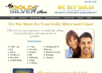 My+Gold+and+Silver+Store Website