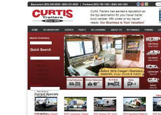 Curtis+Trailers Website