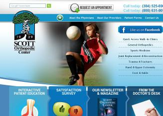 Scott+Orthopedic+Center Website