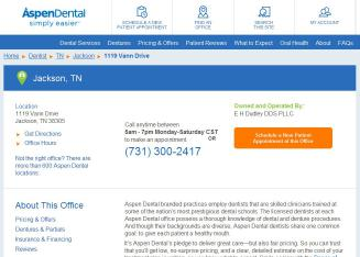 Results 1 - 25 of 145  Directory of Jackson Dentists in TN yellow pages. Find Dentists in  Jackson, TN   change  After Hours Emergency Dentists - Call 24/7 *