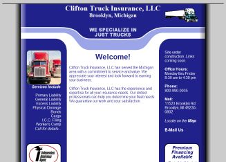 Clifton+Truck+Insurance Website