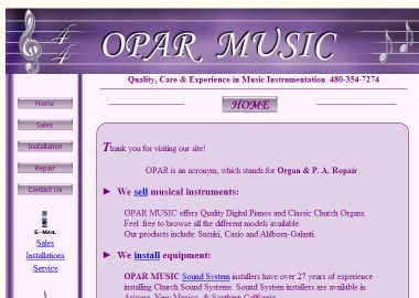 Opar+Music Website