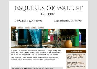 Esquires+Of+Wall+St+Gents+%26+Ladies+Hair+%26+Nail Website