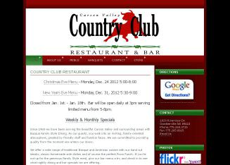 Carson+Valley+Country+Club+Restaurant Website