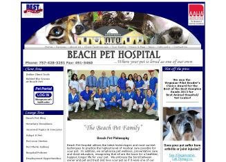 Beach+Pet+Hospital Website