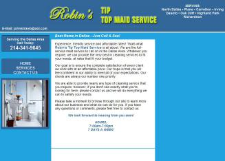 Robin%27s+Tip+Top+Maid+Service Website