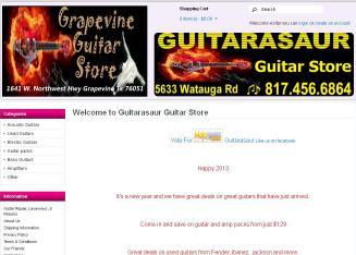 Guitarasaur+Guitar+Store Website