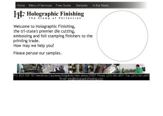 Holographic Finishing Inc