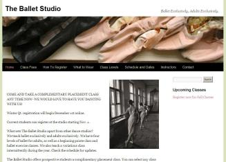 Adult Ballet - The Ballet Studio. 4556 University Way Northeast 208. Seattle ...