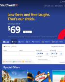 Southwest+Airlines Website