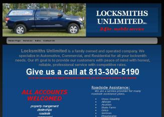 Locksmiths+Unlimited Website